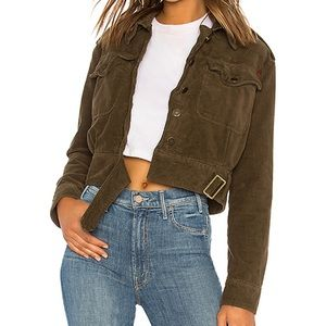 Free People | Everlyn Corduroy Moss Crop Jacket
